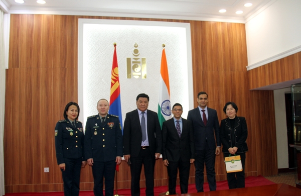 Sitemap : Meeting with Major General Ts  Sergelen, Head of